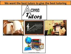 Acme Tutors needs tutors in Pretoria and surrounding areas
