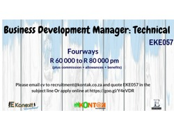 Business Development Manager-Technical (EKE057)