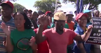 Mineworkers unite and fight for a living wage in South Africa mini