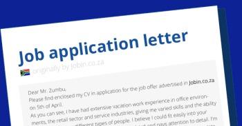 Application letter mini